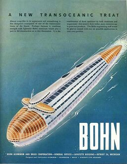 Bohn 1940s USA Arthur Radebaugh mcitnt visions of the future futuristic ships boats
