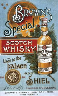 BrownA•s Special Whisky 1890s UK whisky alcohol whiskey advert Browns Scotch Scottish