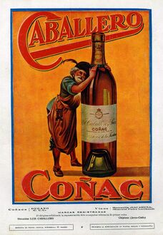Caballero 1920s Spain cc cognac alcohol brandy bottles