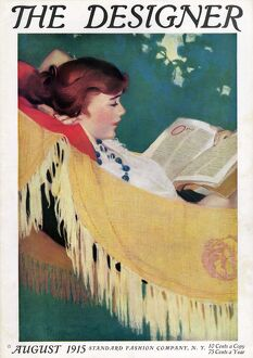 The Designer 1915 1910s UK reading hammocks magazines