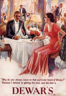 Dewar's 1930s UK whiskey alcohol dinners