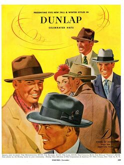 Dunlap 1950s USA mens hats admirers