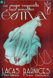Esma 1941 1940s Spain cc hands hand cream moisturiser