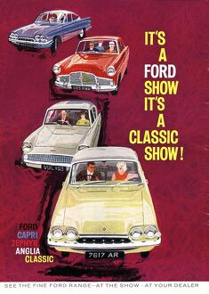 Ford Capri/ Ford Zephyr/ Ford Anglia 1950s UK cars