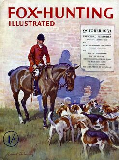 Fox-Hunting Illustrated 1934 1930s UK fox hunting cruel sports magazines