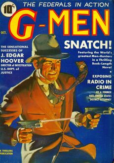 G-Men GMen GMen 1935 1930s USA FBI detectives pulp fiction magazines