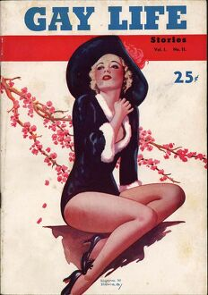 Gay Life 1930s USA glamour pin-ups magazines v