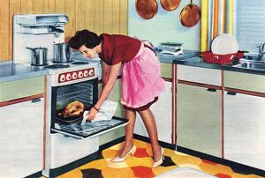 GEC 1960 1960s UK housewives housewife cooking ovens kitchens homemakers women woman