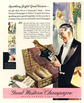 Great Western 1930s USA champagne alcohol
