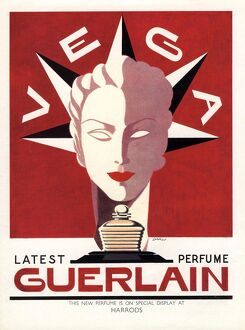 Guerlain 1940s UK guerlain vega art deco womens