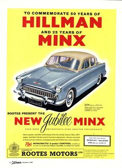 Hillman 1950s UK jubilee edition hillman minx cars