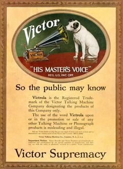 HMV Victor 1920s UK cc nipper dogs logos his masters voice masterA•s