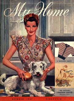 My Home 1947 1940s UK housewives dogs housewife magazines clothing clothes