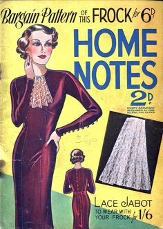 Home Notes 1940s UK women at war womens dresses dressmaking magazines