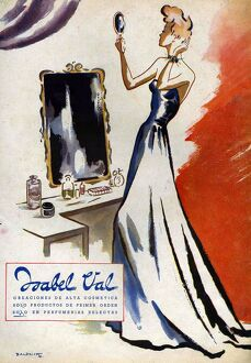 Isabel Val 1942 1940s Spain cc mirrors vanity dressing tables beauty