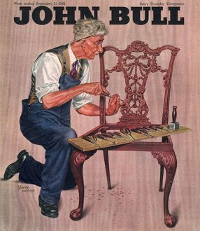 John Bull 1946 1940s UK diy, carpenters, furniture repairing magazines repairs mending