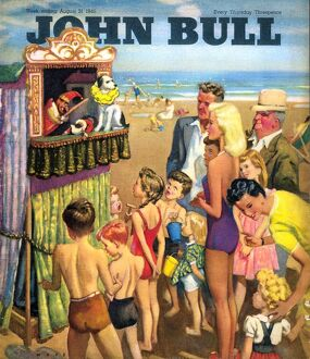 John Bull 1946 1940s UK holidays punch and judy show beaches seaside seaside magazines