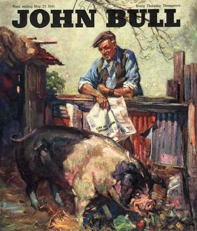 John Bull 1946 1940s UK pigs farms farmers magazines