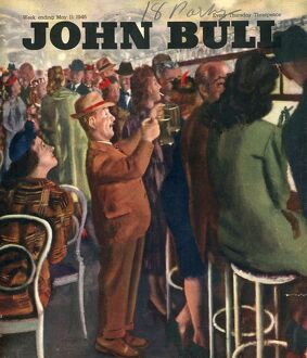 John Bull 1946 1940s UK pubs bars alcoholic short men queues magazines