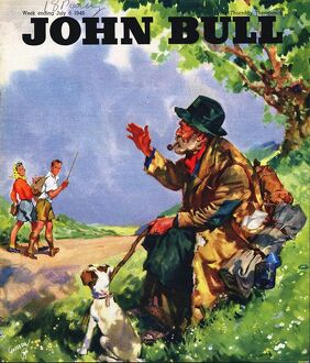 John Bull 1946 1940s UK tramps countryside magazines