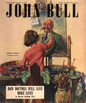 John Bull 1947 1940s UK art painting magazines