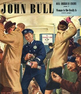 John Bull 1947 1940s UK buses bus conductors rush hour routemasters magazines