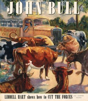 John Bull 1947 1940s UK farms farming farmers milk cows magazines