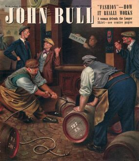 John Bull 1947 1940s UK pubs locals barrels alcoholic magazines
