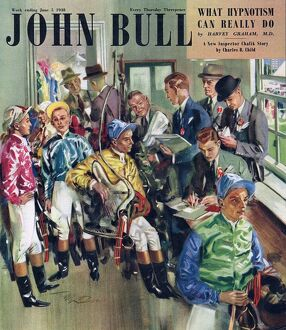 John Bull 1947 1940s UK riding horses horse racing magazines