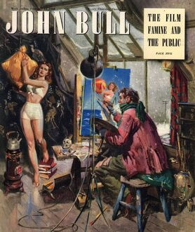 John Bull 1948 1940s UK art artists magazines
