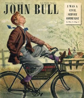 John Bull 1948 1940s UK bicycles bikes cycling whistling groceries boys delivery