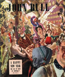 John Bull 1948 1940s UK new years eve party magazines