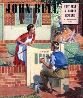 John Bull 1948 1940s UK painting first homes new garden gates magazines horticulture
