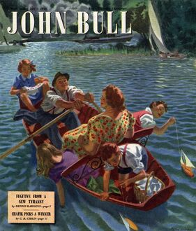 John Bull 1948 1940s UK rowing boats the on rivers magazines