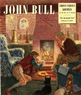 John Bull 1948 1940s UK seasons cooking roasting chestnuts open fires winter magazines