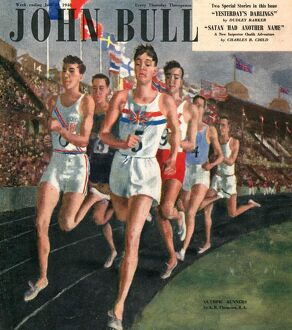 John Bull 1948 1940s UK sports races athletes runners running olympics athletics