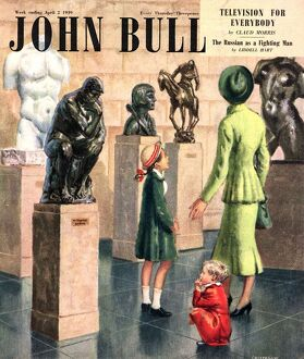 John Bull 1949 1940s UK art museums art gallery galleries magazines