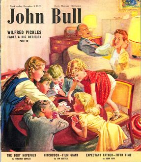 John Bull 1949 1940s UK games fighting arguing snap cards playing siblings s arguments
