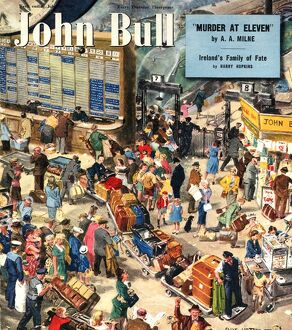 John Bull 1949 1940s UK holidays trains stations magazines