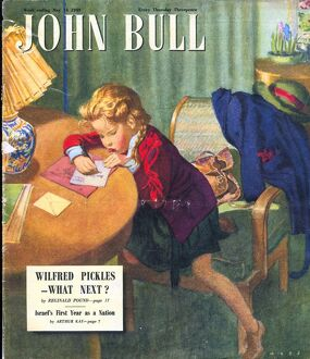 John Bull 1949 1940s UK homework thank you letters writing magazines