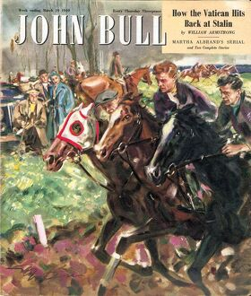 John Bull 1949 1940s UK horses racing magazines