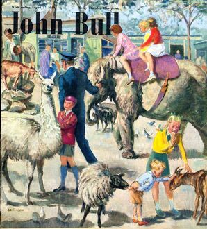 John Bull 1949 1940s UK london zoo zoos magazines