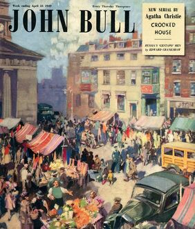 John Bull 1949 1940s UK markets villages towns squares shopping magazines