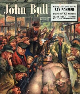 John Bull 1949 1940s UK pigs auctions farms farmers magazines