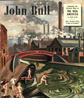 John Bull 1949 1940s UK swimming sports magazines canals Turrali