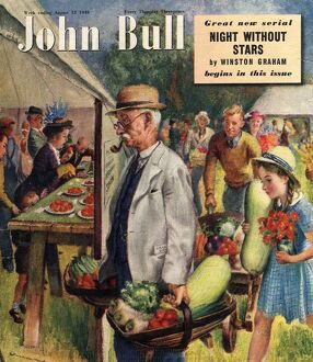 John Bull 1949 1940s UK villages fetes vegetables flowers show magazines horticulture