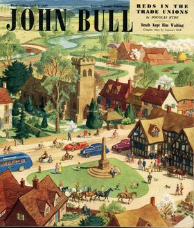 John Bull 1949 1940s UK the villages green the countryside bank holidays magazines