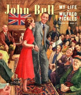 John Bull 1949 1940s UK wifred pickles radio programmes magazines microphones