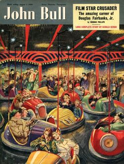 John Bull 1950 1950s UK fairgrounds funfairs dodgems magazines family