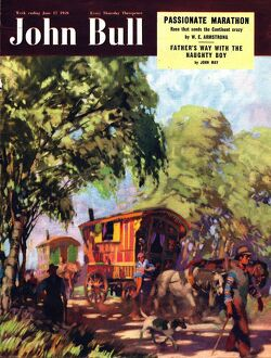 John Bull 1950 1950s UK gypsies caravans gypsy magazines